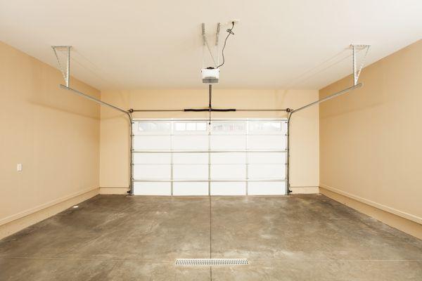 Two Car Garage Interior with Door