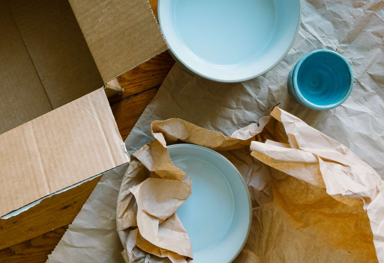 beginning to pack up dishes