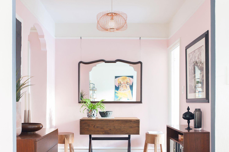 Millennial pink entryway