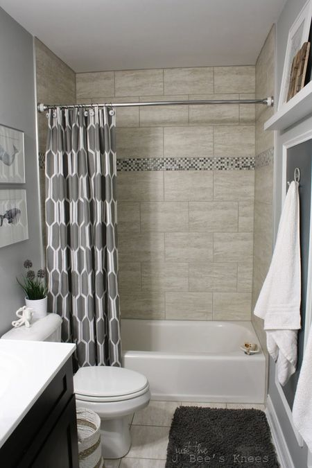 Gray And Tan Bathroom