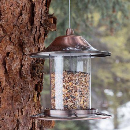 Perky-Pet Copper Panorama Bird Feeder