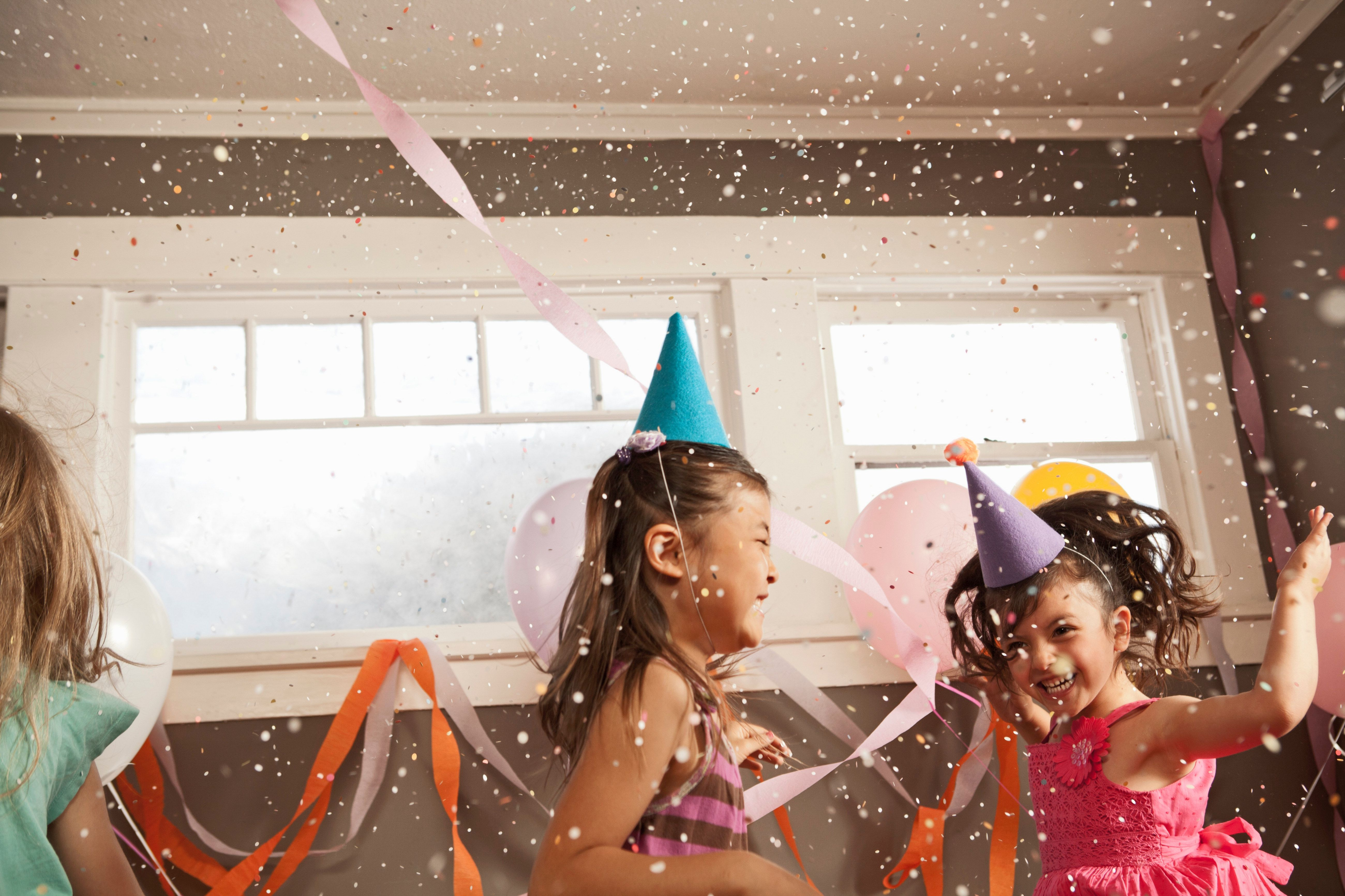 Children dancing at party