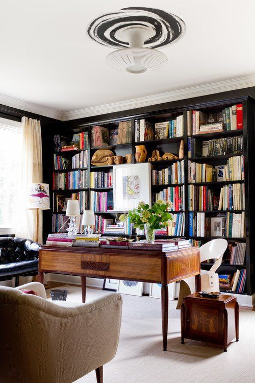 Home Library Office: 25 Stunning Home Library Design Ideas