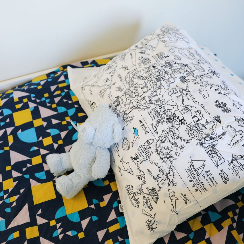 Eatsleepdoodle Doodle World Map Pillowcase