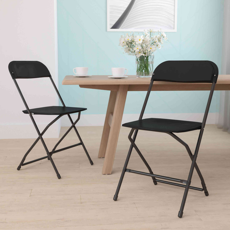 Inbox Zero Premium Plastic Folding Chair