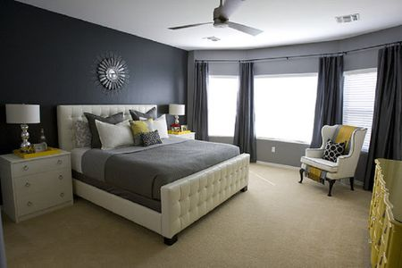 Black Room With Bright Accents
