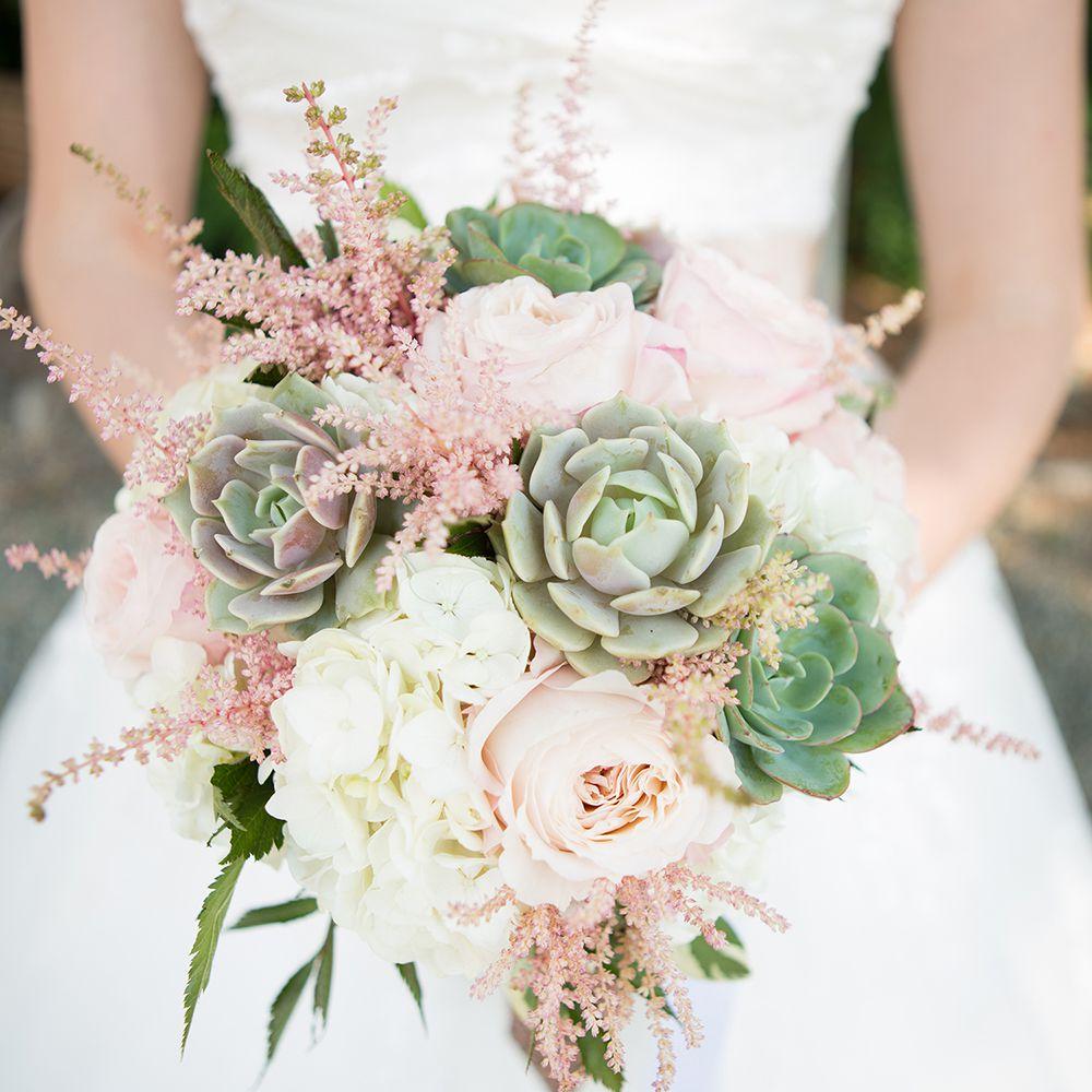 Succulent Summer Wedding Bouquet