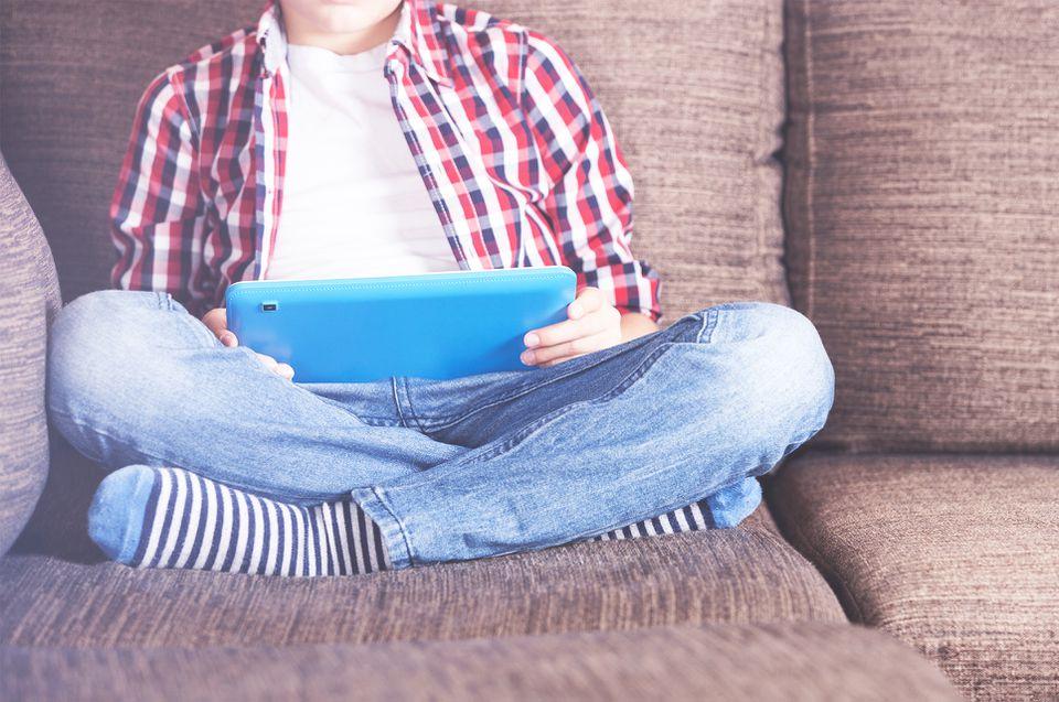 boy on iPad