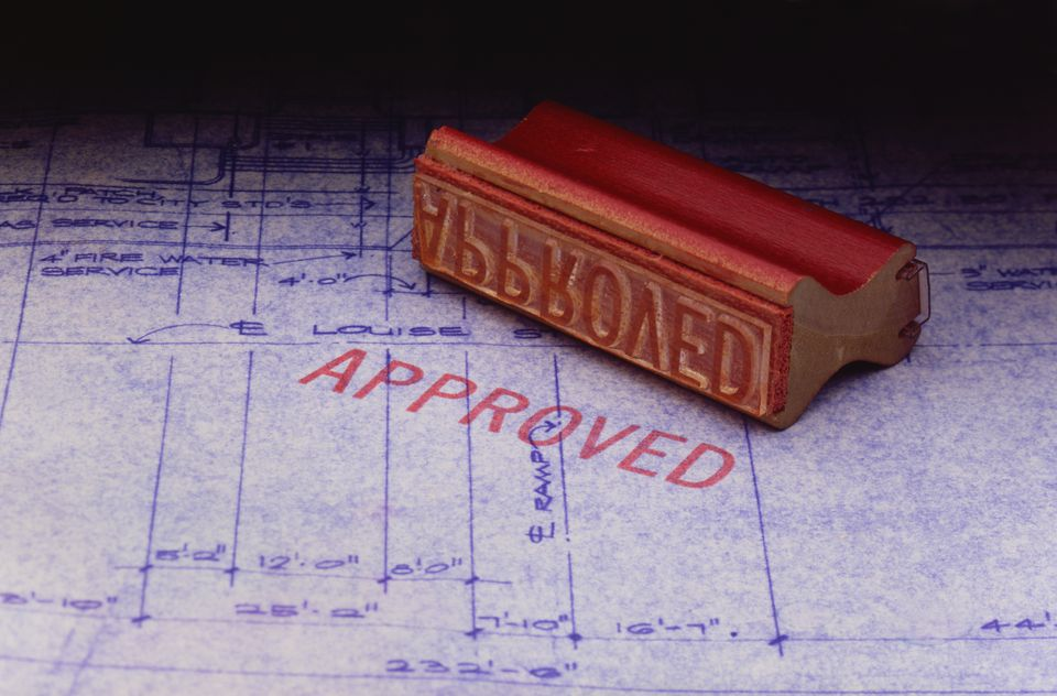 approved construction plans and building permit