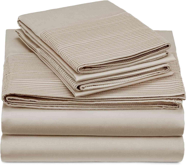 Pinzon 400-Thread-Count Egyptian Cotton Sateen Pleated Hem Sheet