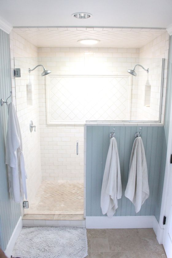 white double shower design