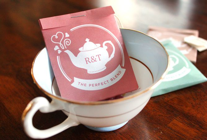 Printable tea bag wrapper