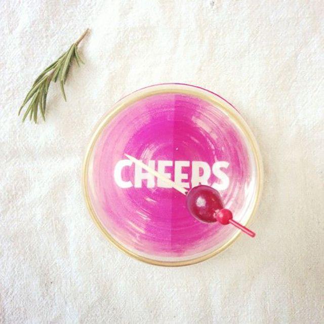 DIY Cheers Coaster Set