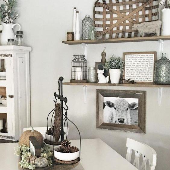 Baskets on a shelf