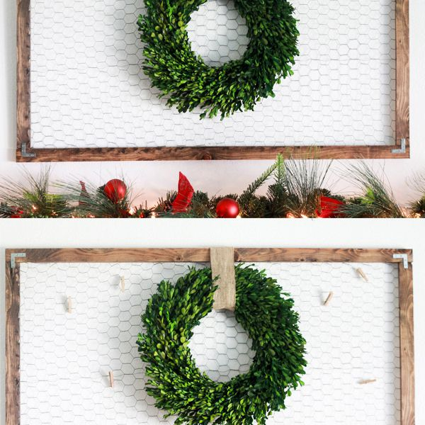 DIY Christmas card memo board