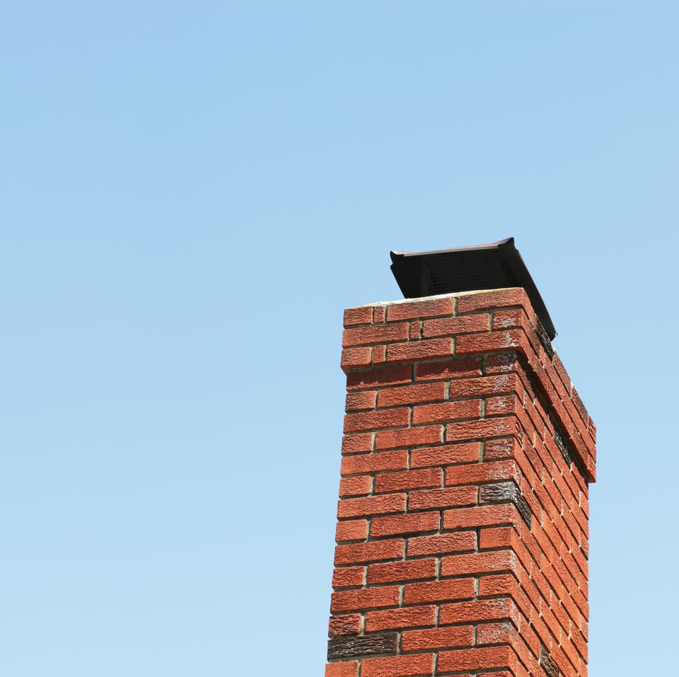Red Brick Chimney and Blue Sky