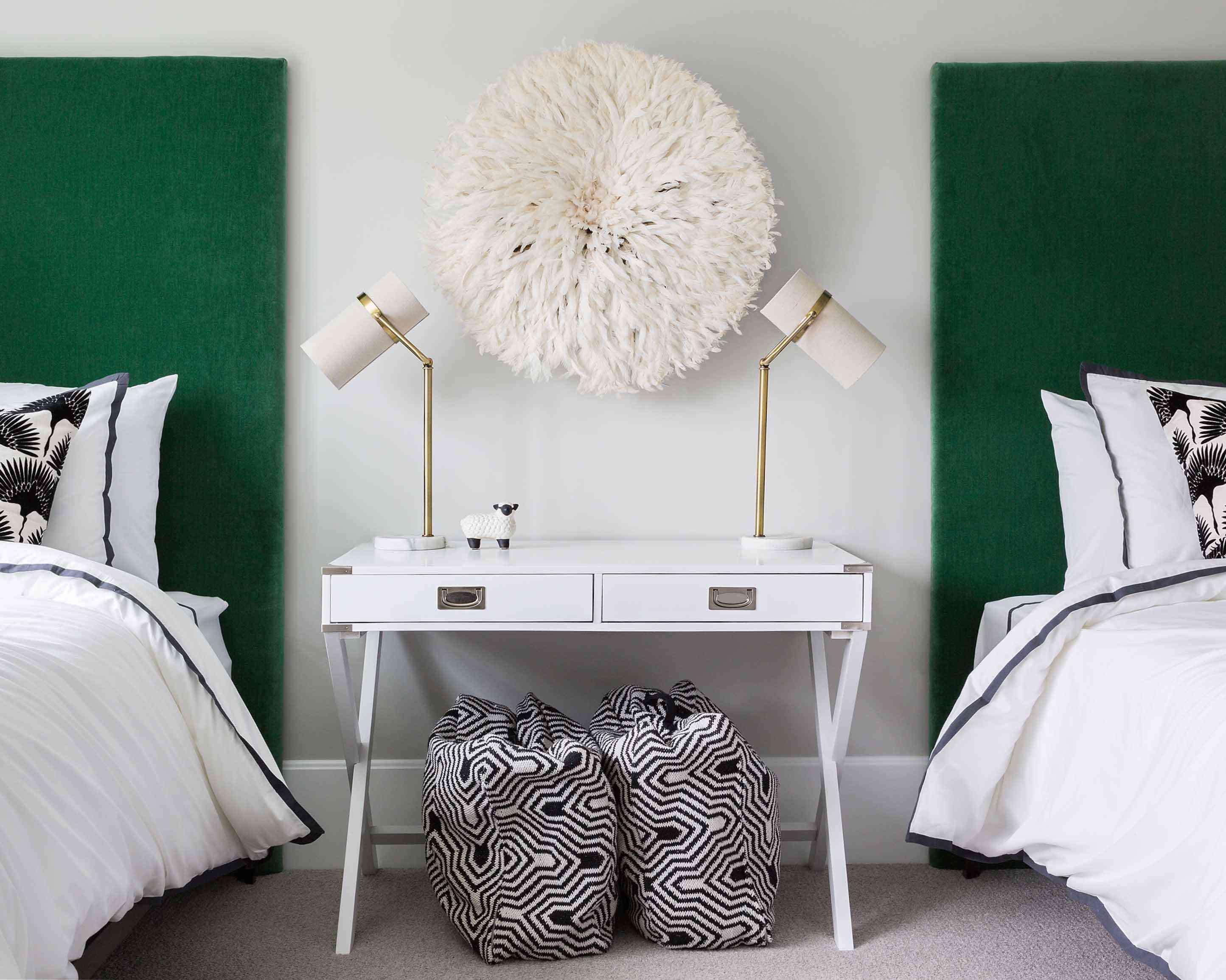Symmetrical guest bedroom