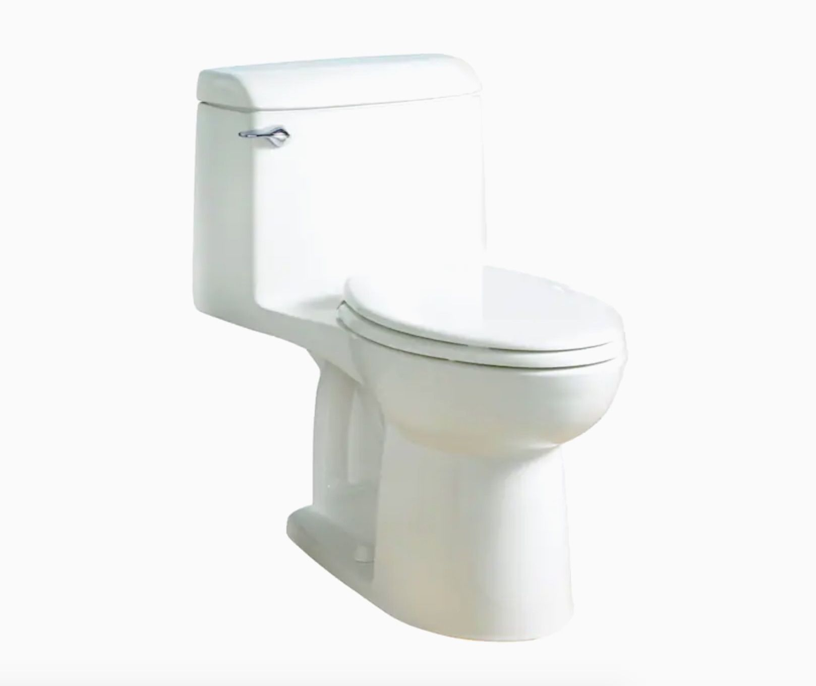 American Standard Champion White Elongated Standard Height Toilet 12-in Rough-In Size