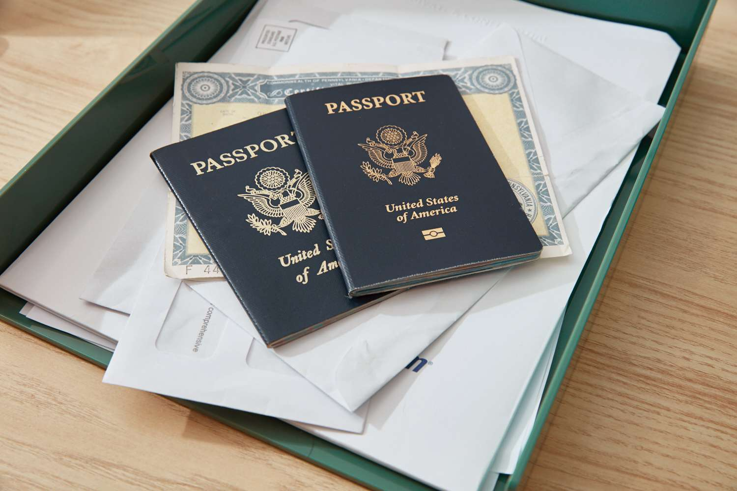 Important documents and passports to store