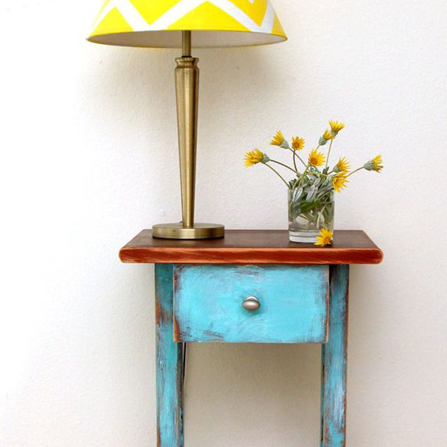 small chalk paint end table