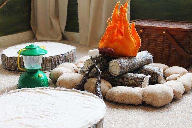DIY campfire play set for woodland nursery or kid's room