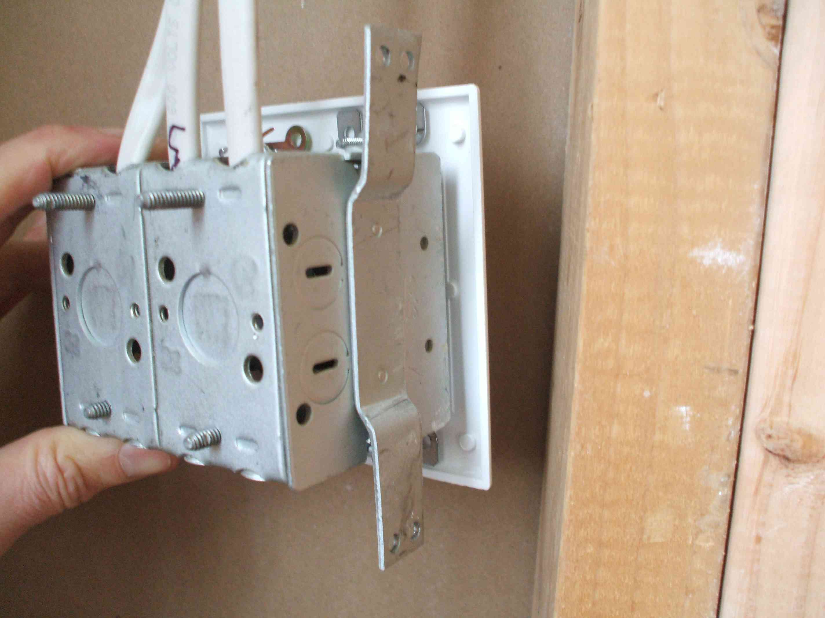 How To Replace A Load Bearing Wall With Support Beam Figure 2 Using X 4s Position The Height Of Electrical Boxes