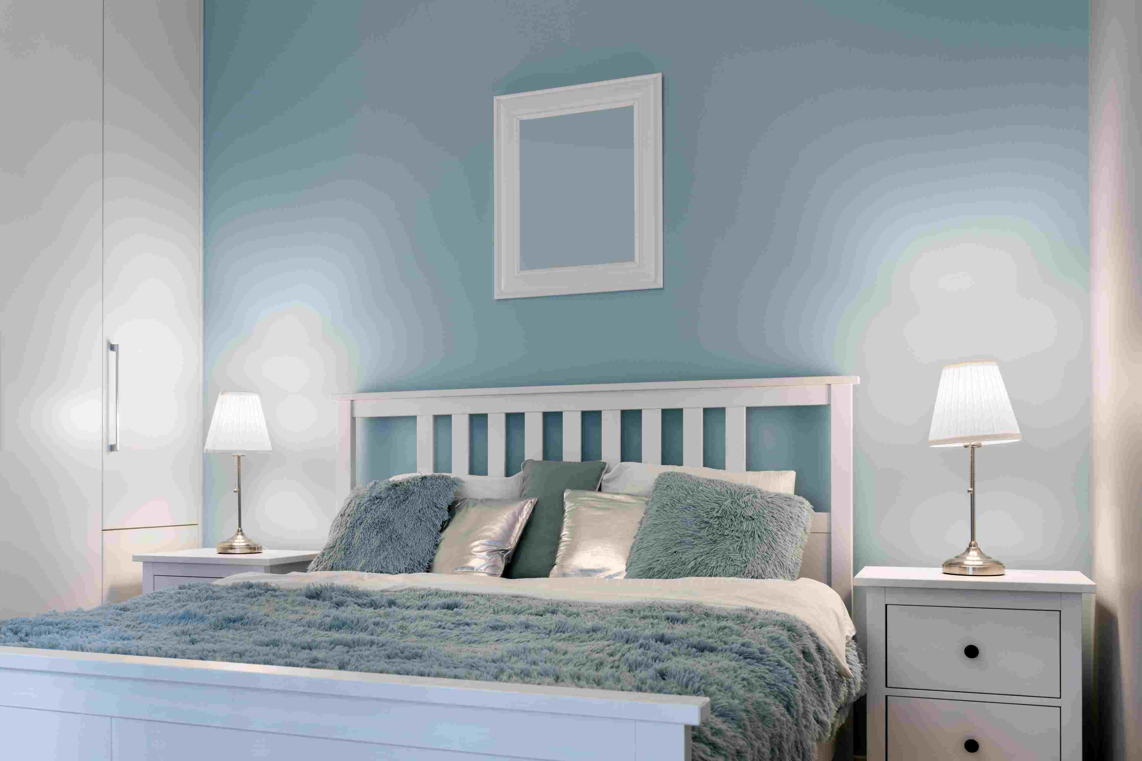 Stylish bedroom painted