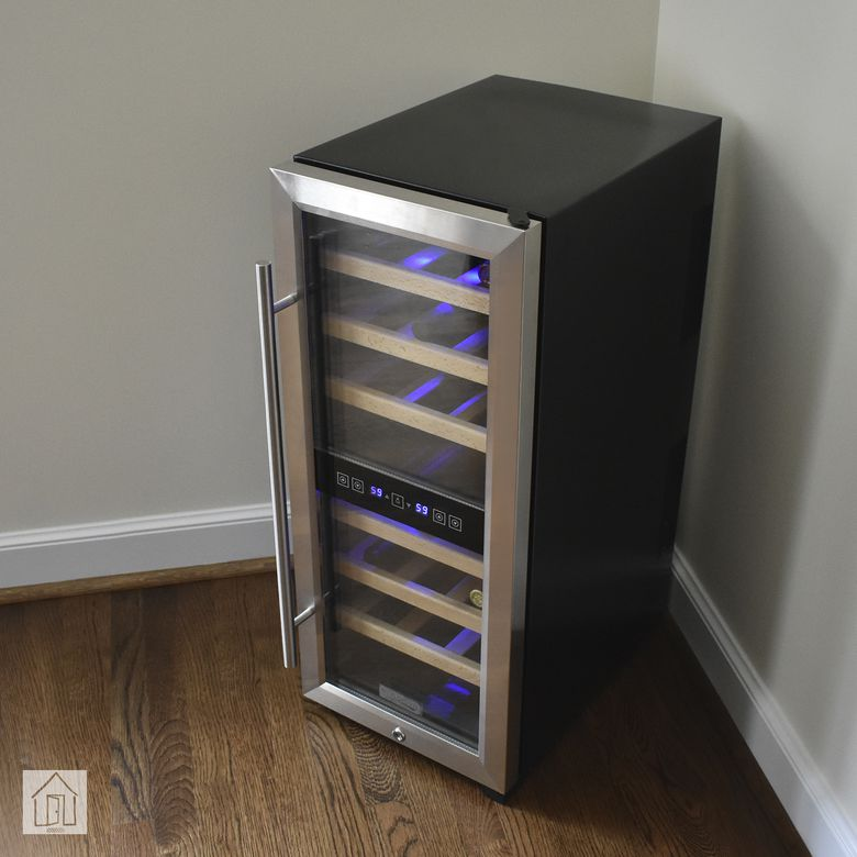 Koldfront 24-Bottle Freestanding Dual Zone Wine Cooler