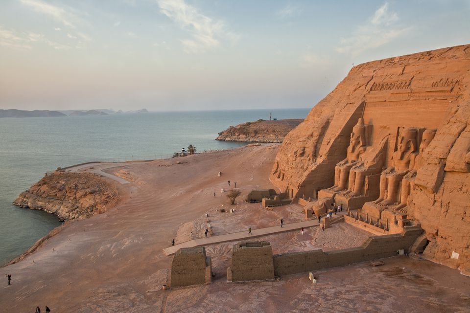 Abu Simbel Temple on the west shore of Lake Nasser, Egypt