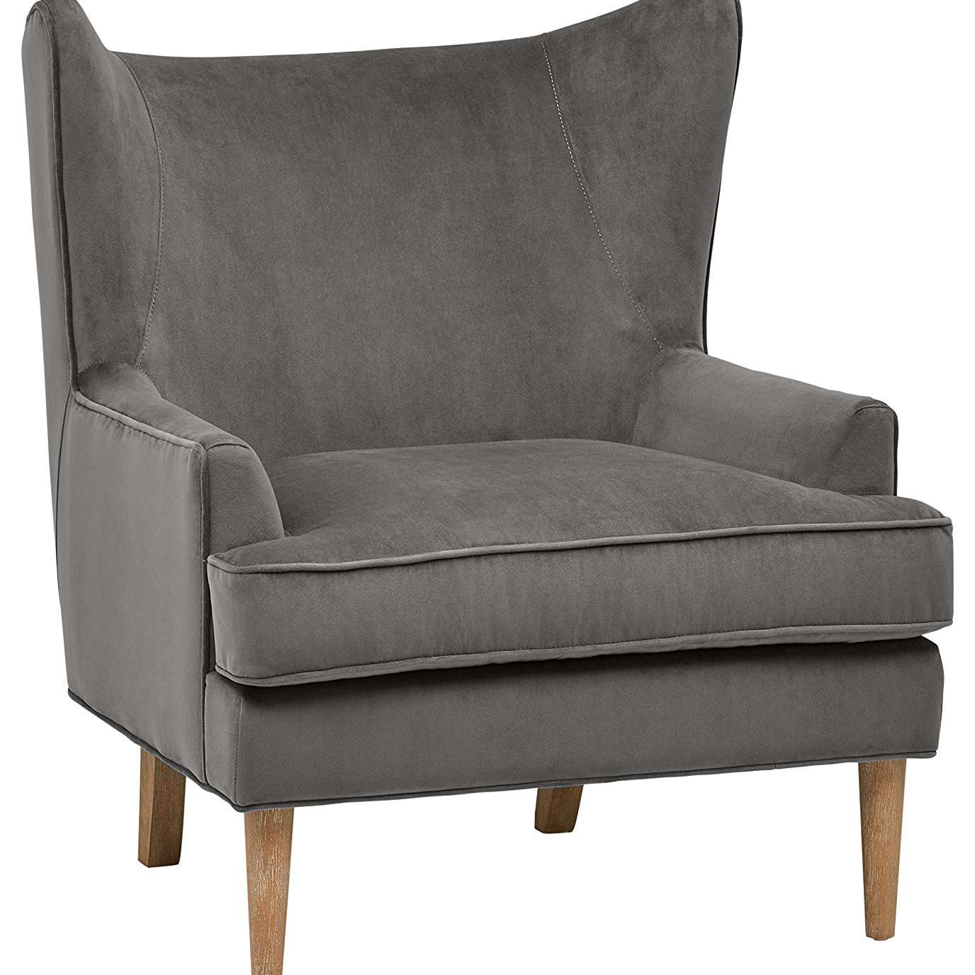 Rivet Chelsea Velvet Wing-Back Accent Chair