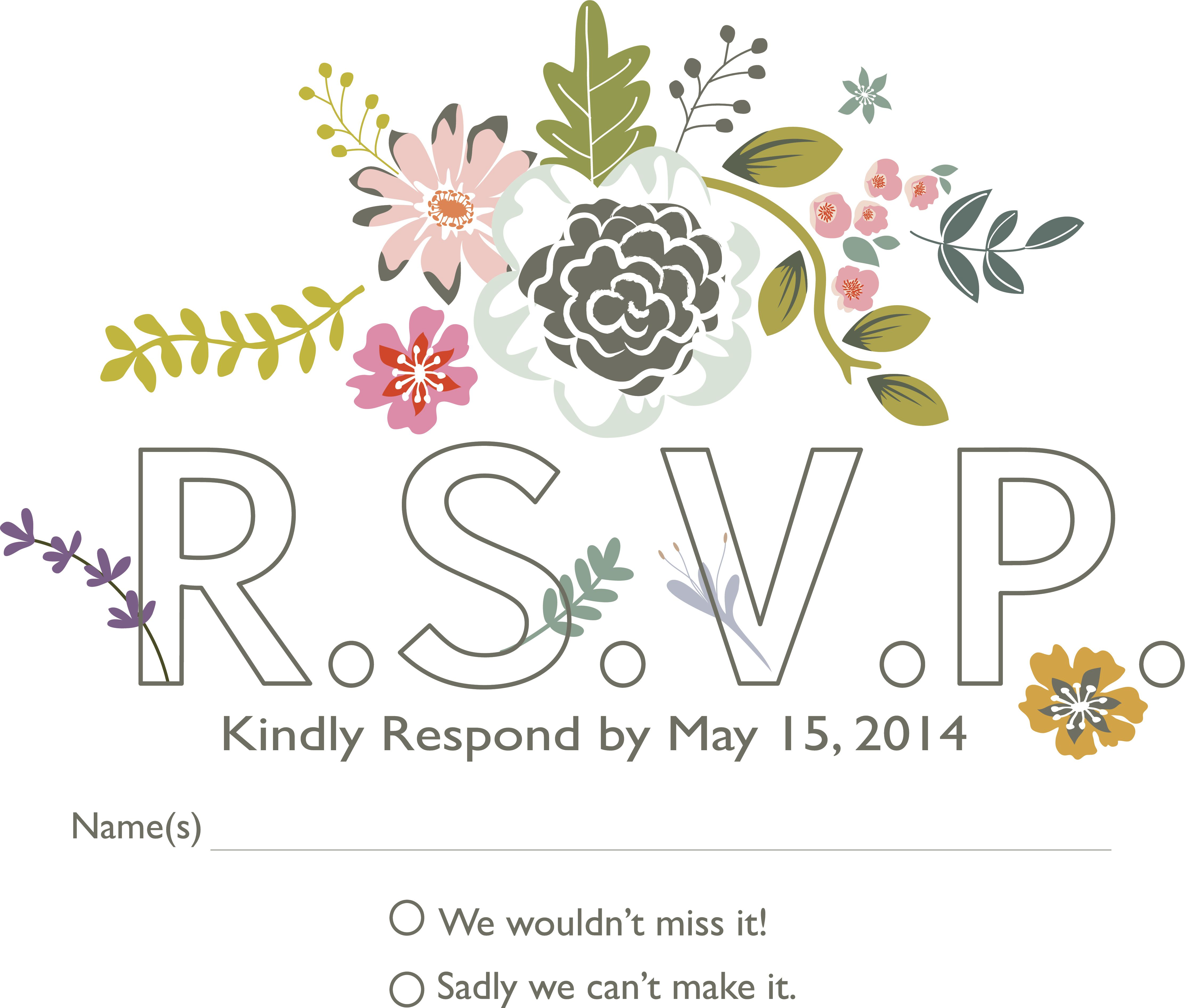 How To Word Your Rsvps