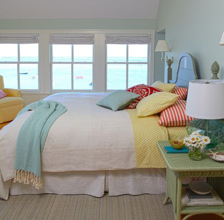 Red Yellow And Blue Cottage Bedroom A Triadic Color Scheme