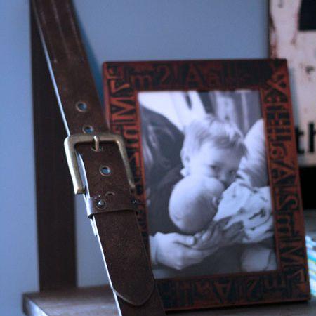 DIY Shelves Made from Repurposed Belts