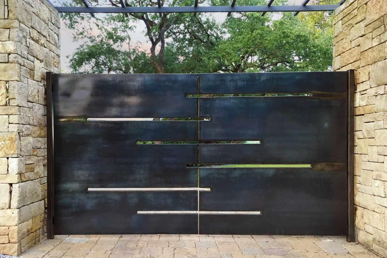 diseño de puerta de jardín de acero