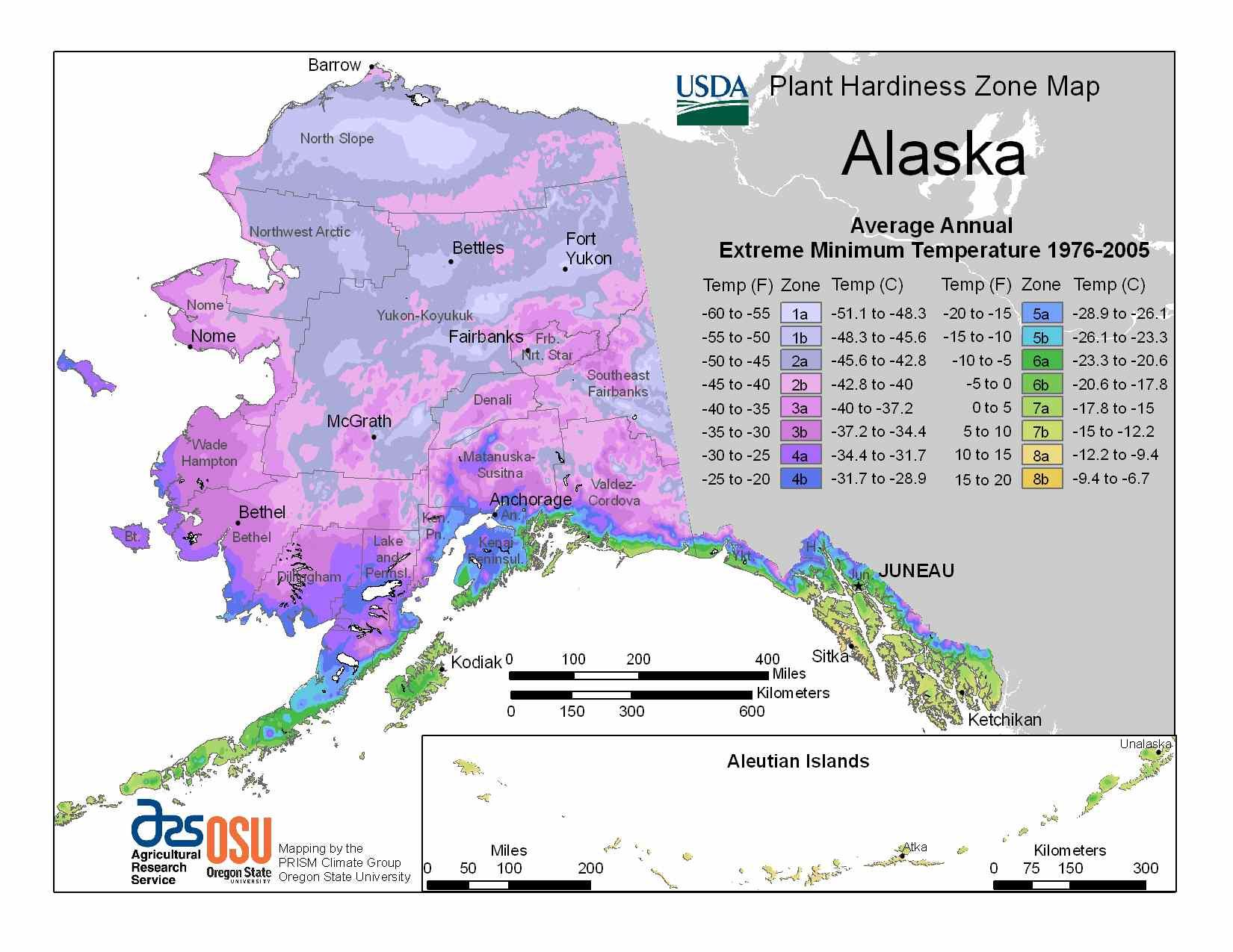 State Maps Of Usda Plant Hardiness Zones