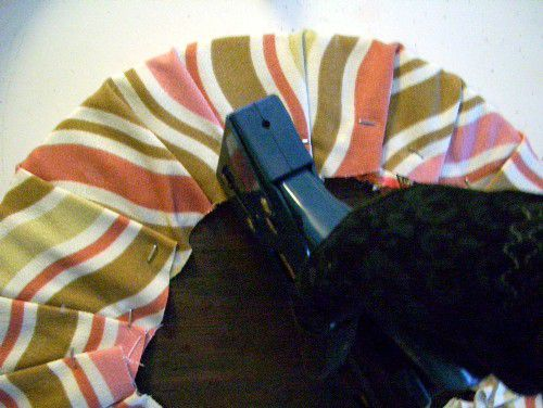 Add new fabric to cushion