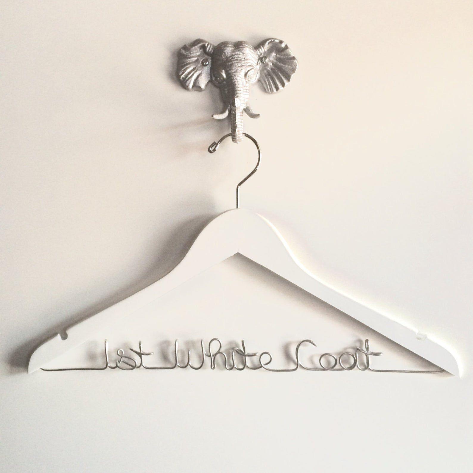 HandcraftedAffairs Etsy White Coat Hanger