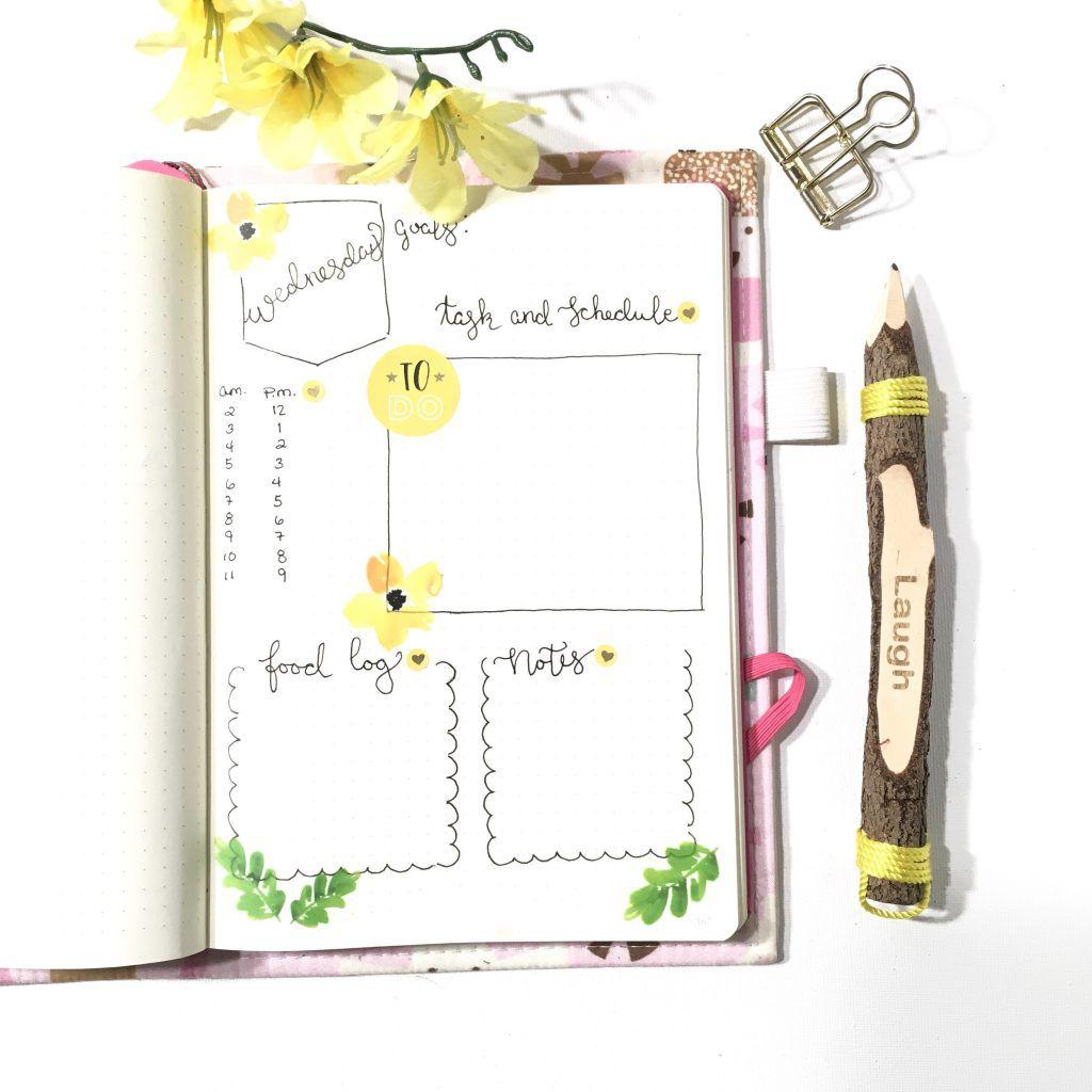 daily log for bullet journals