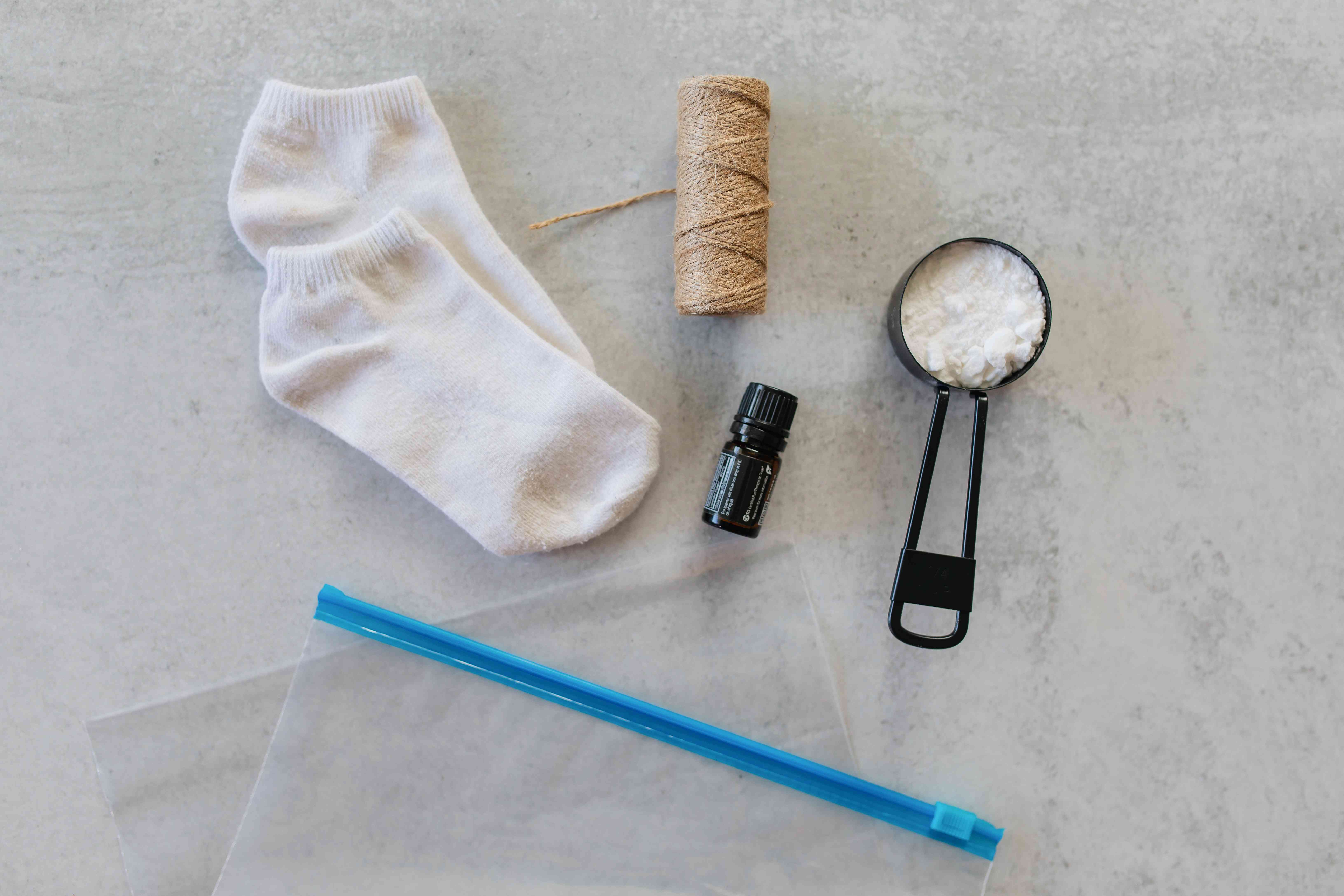 materials for removing shoe odors