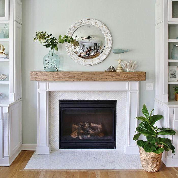 Diy Fireplace Mantel Plans, Faux White Fireplace Mantel