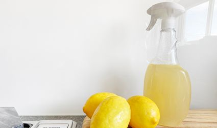 Lemons by a spray bottle
