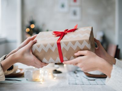 brown paper package gift