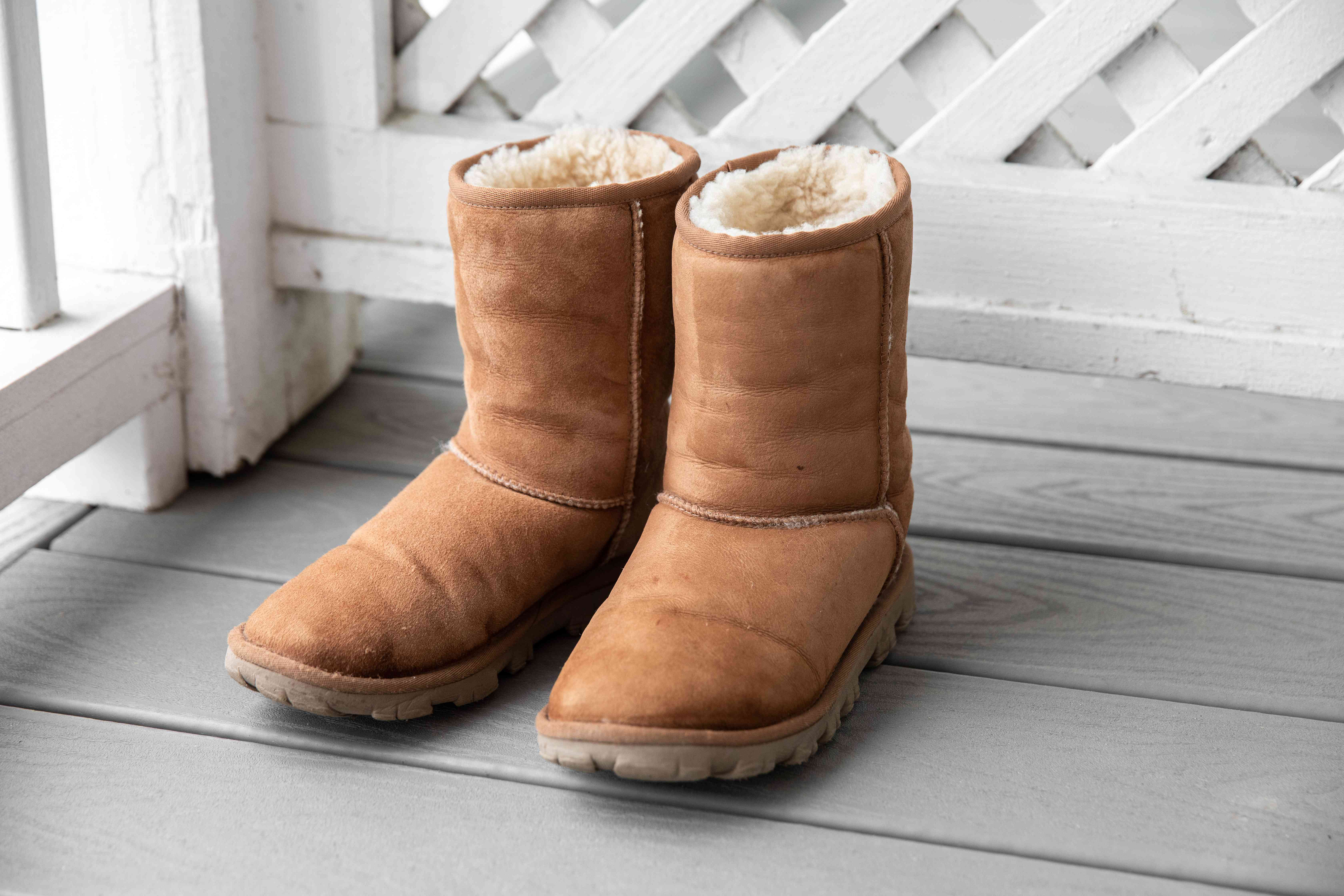Air drying Ugg boots