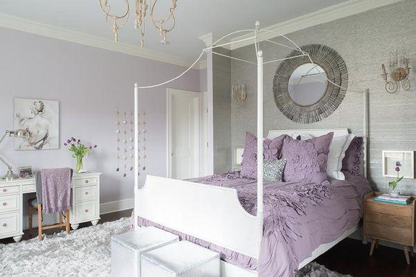 Pretty purple bedroom