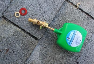 Válvula de flotador del enfriador de pantano