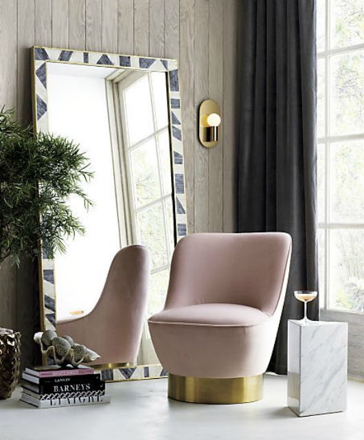 Glam velvet chair