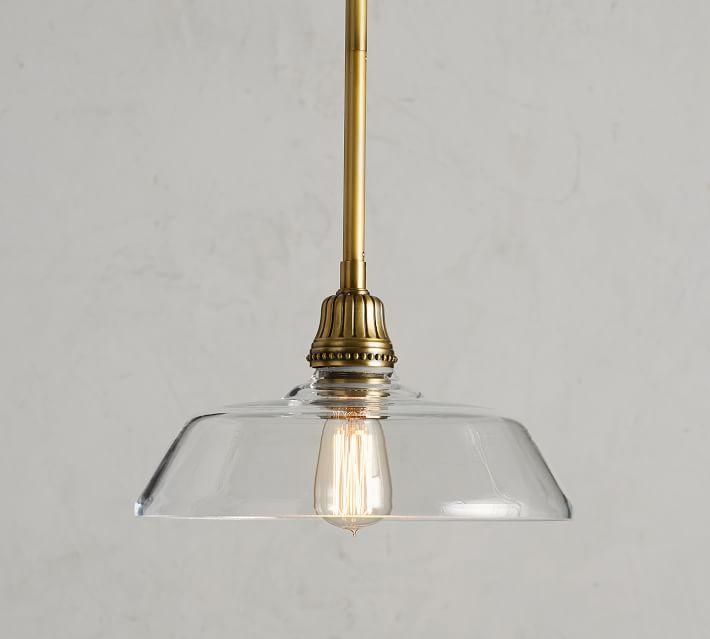Farmhouse Glass Pole Pendant