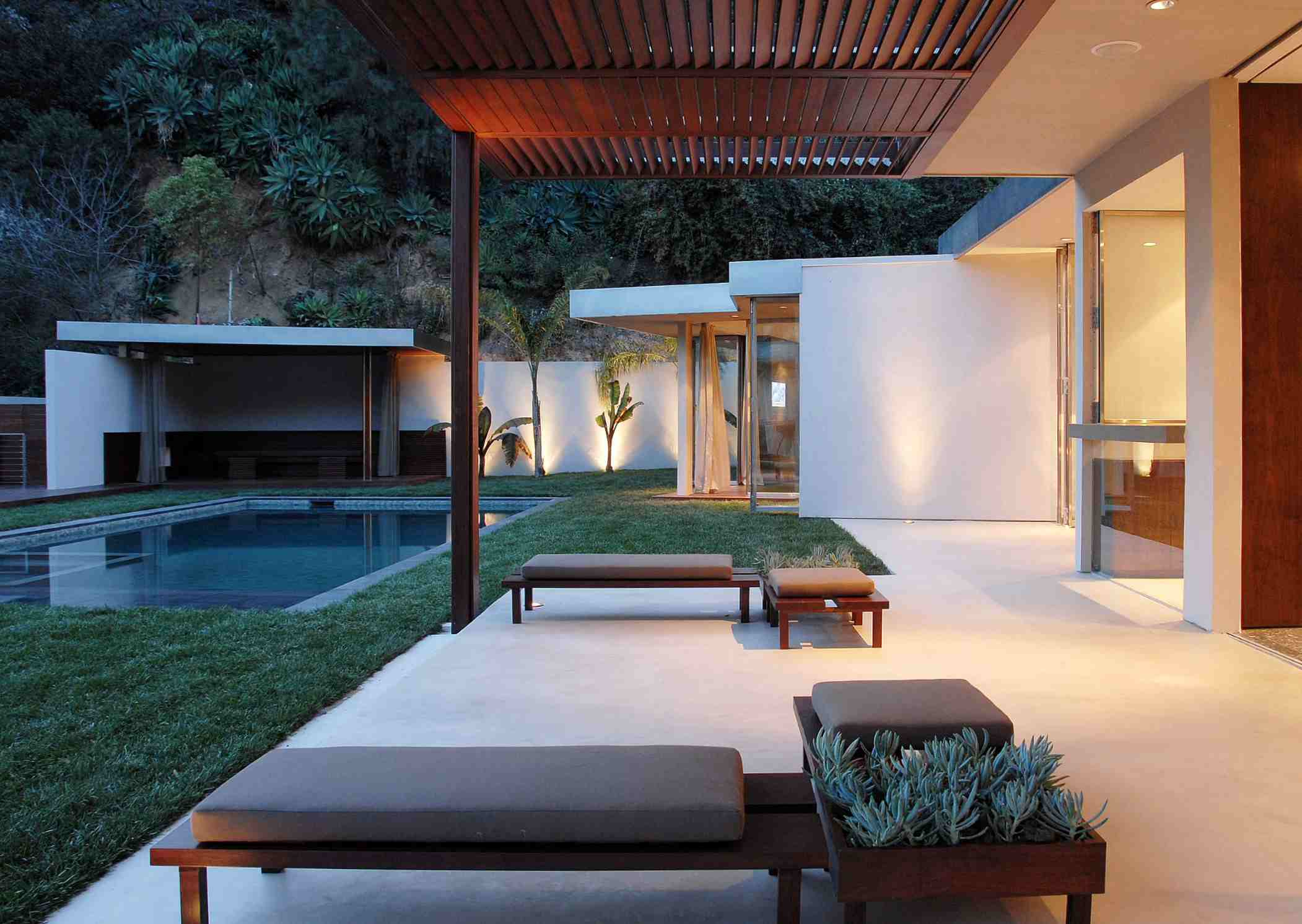 covered patio ideas near pool minimalist house