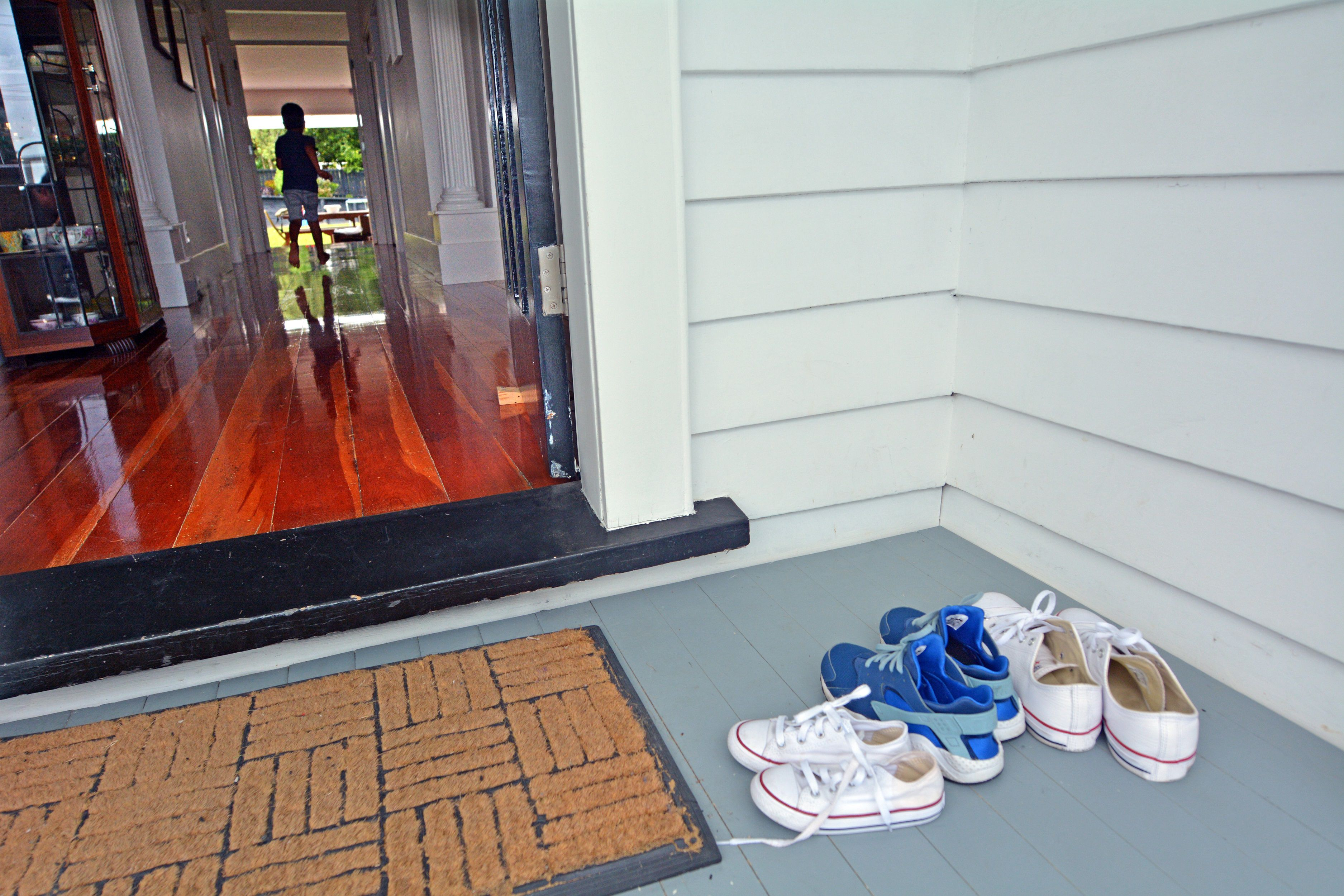 Shoes on porch