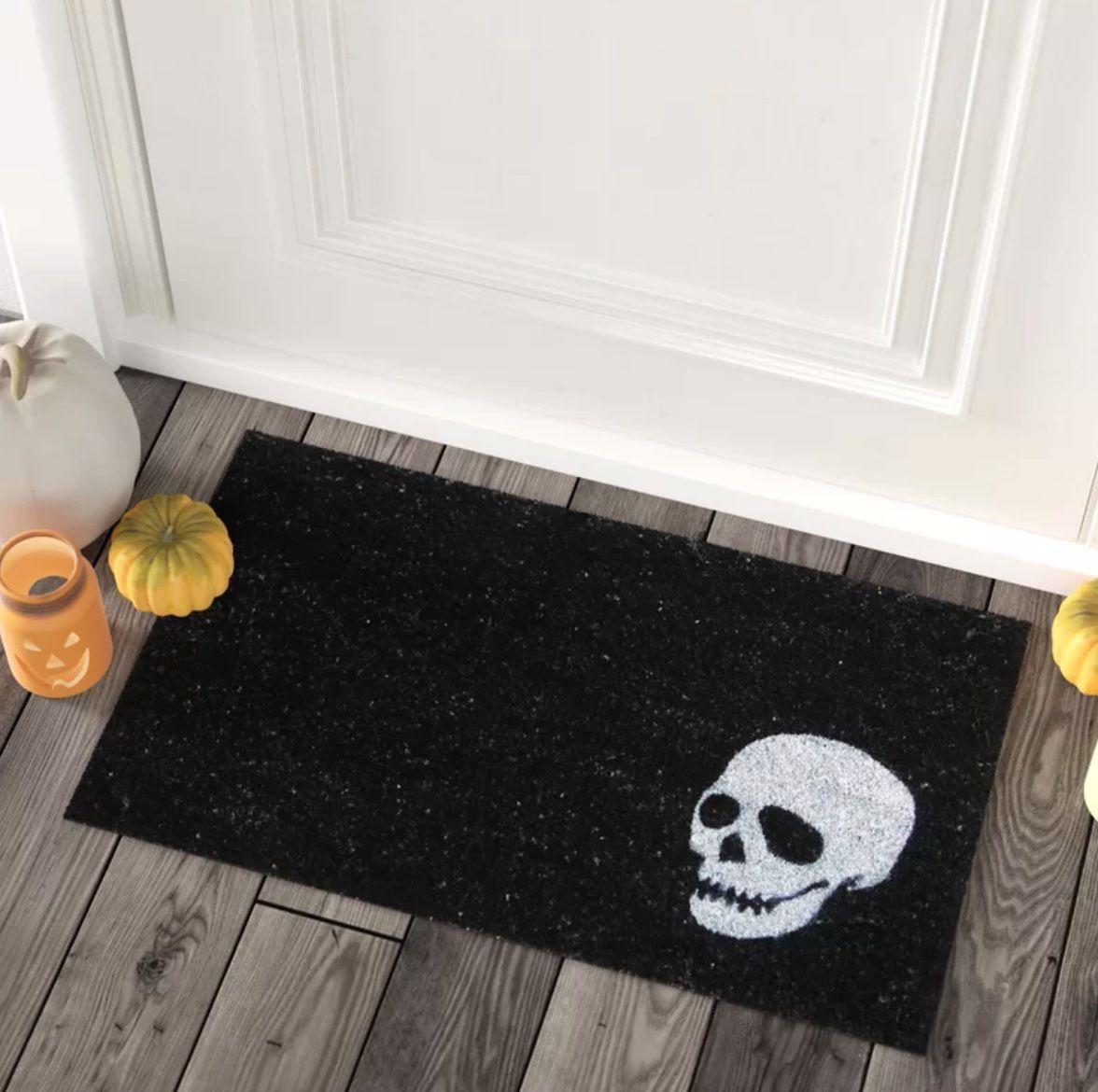 Skull Non-Slip Outdoor Door Mat